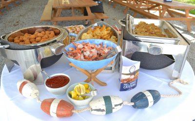 Shrimp Cocktail, Hush Puppies & Crab Cakes